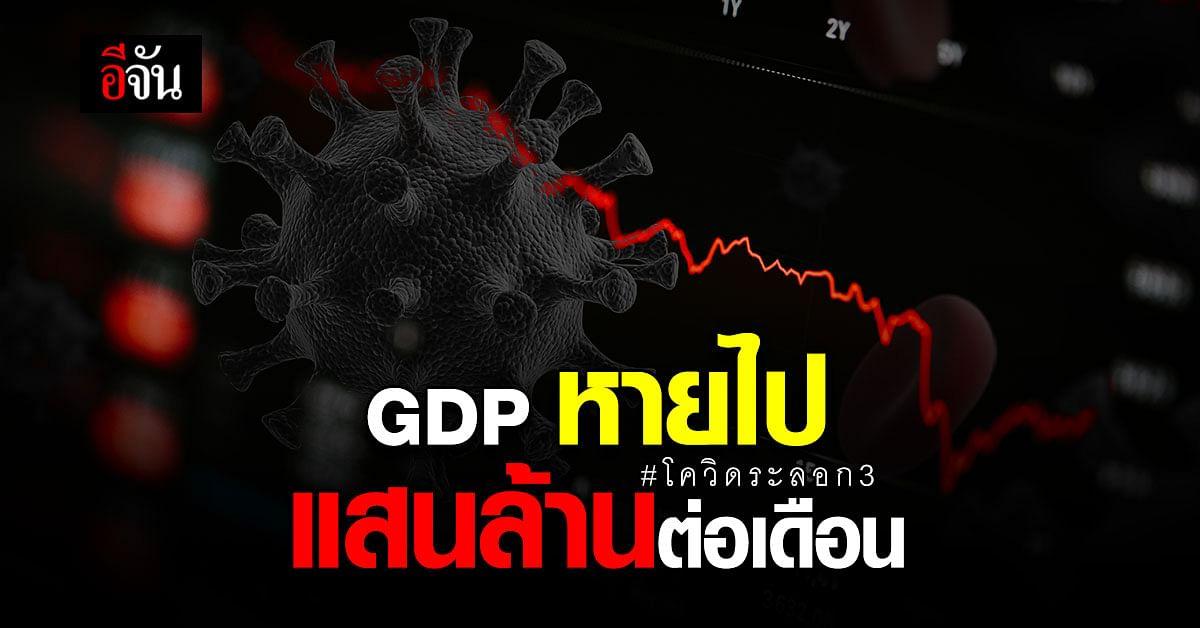 โควิด ระลอก 3 เศรษฐกิจเสียหาย 3 แสนล้านบาท!