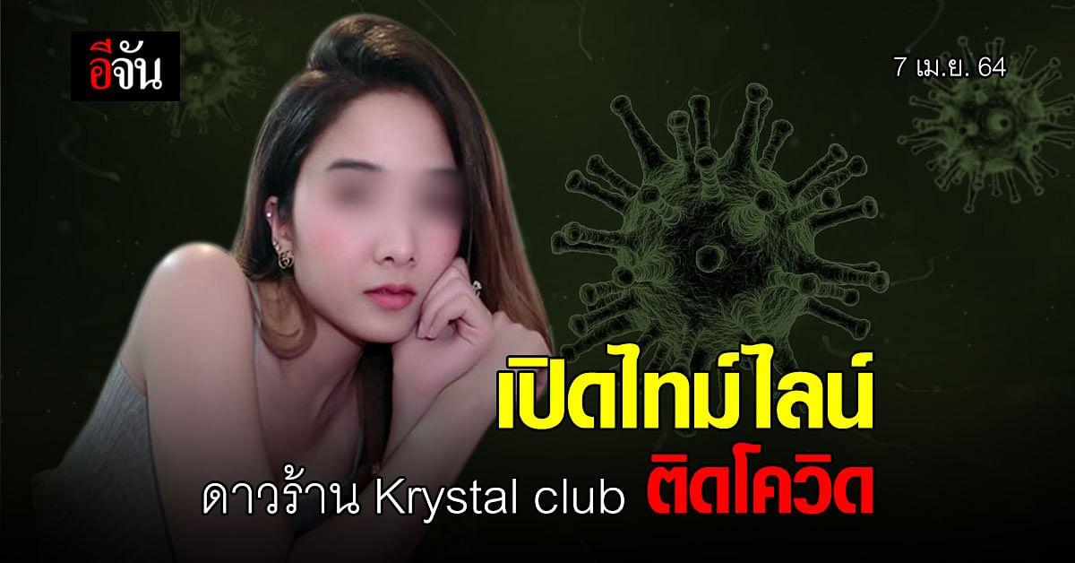 เปิดไทม์ไลน์ ฟ้าใส พีอาร์ Krystal club ติดโควิด