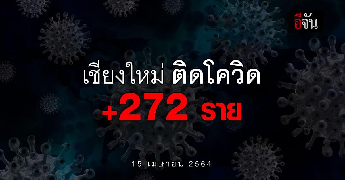 โควิดเชียงใหม่ วันนี้ (15 เม.ย. 64) ติดเชื้อโควิด เพิ่ม 272 ราย