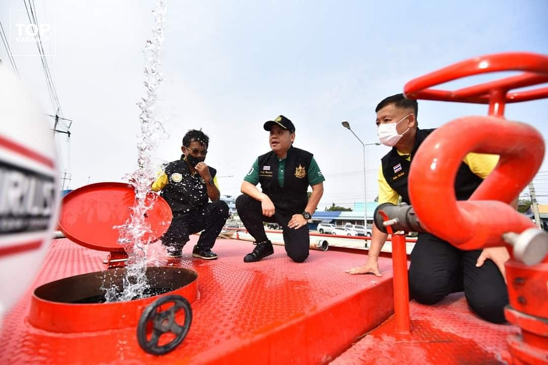 รัฐมนตรีว่าการกระทรวงทรัพยากรธรรมชาติและสิ่งแวดล้อม พื้นที่ตรวจสอบสภาพน้ำ