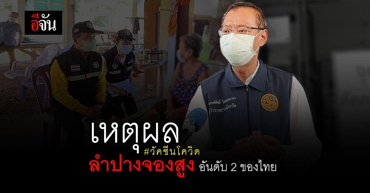 พ่อเมืองลำปางตอบชัด  ทำไมลำปาง จองฉีดวัคซีนโควิดสูงเป็นอันดับ 2 ของไทย