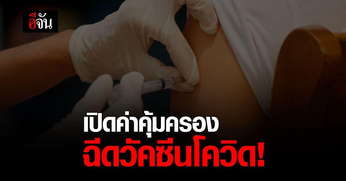 สปสช. มีข้อสรุป คุ้มครอง ฉีดวัคซีนโควิด สูงสุด 4 แสนบาท หากได้รับความเสียหาย
