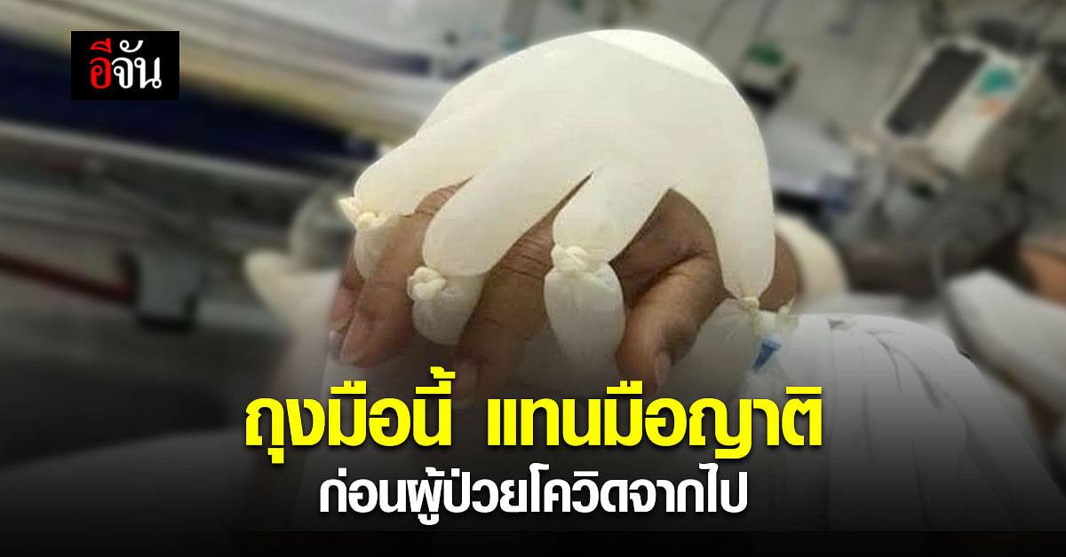 ซึ้งปนเศร้า หมอโพสต์ไอเดีย ถุงมือใส่น้ำ แทนมือญาติ เพื่อให้คนไข้จากไปอย่างไม่เดียวดาย