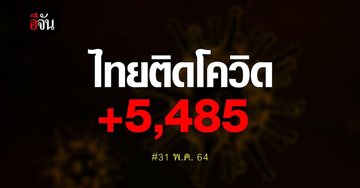 ไทยติดโควิด เพิ่ม 5,485 ตาย 19 ราย