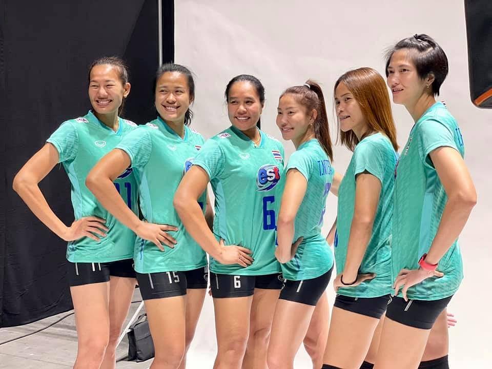 นักตบลูกยางสาวทีมชาติไทย นัดแรกวานนี้ 25 พฤษภาคม 2564