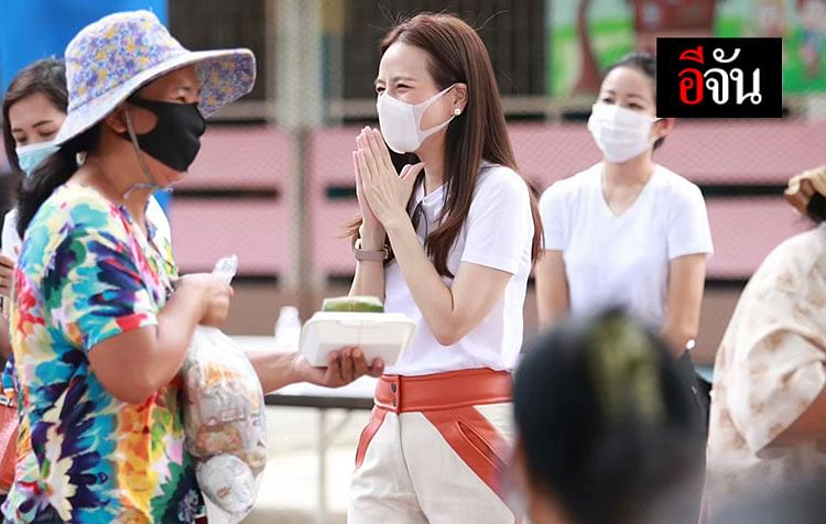 มาดามแป้ง ช่วยเหลือผู้ประสบภัย ทำข้าวกล่องแจกคนคลองเตย