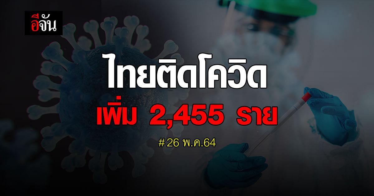 ยอดผู้เสียชีวิต new high อีกครั้ง! ทะลุ 41 ราย ติดเชื้อเพิ่ม 2,455 ราย
