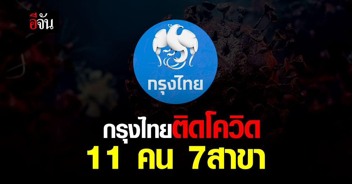 ลุกลาม! พนักงานกรุงไทย ติดโควิด 11 คน กระจาย 4 จังหวัด