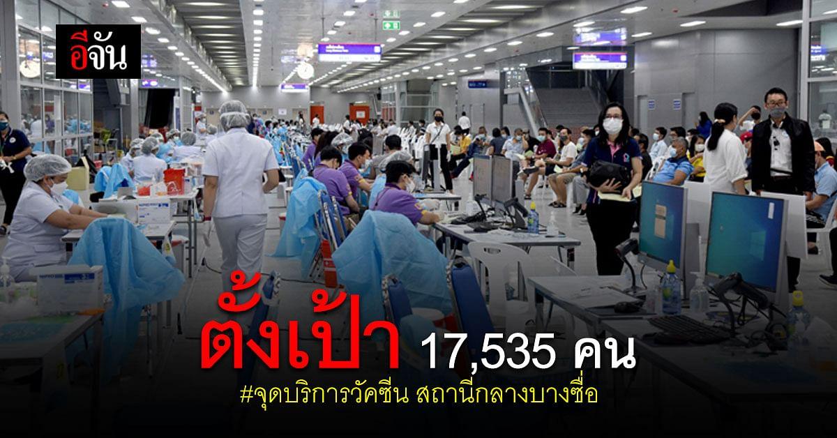 อนุทิน - ศักดิ์สยาม ตรวจ จุดบริการวัคซีน สถานีกลางบางซื่อ ตั้งเป้า 3 วัน ฉีด 17,535 คน