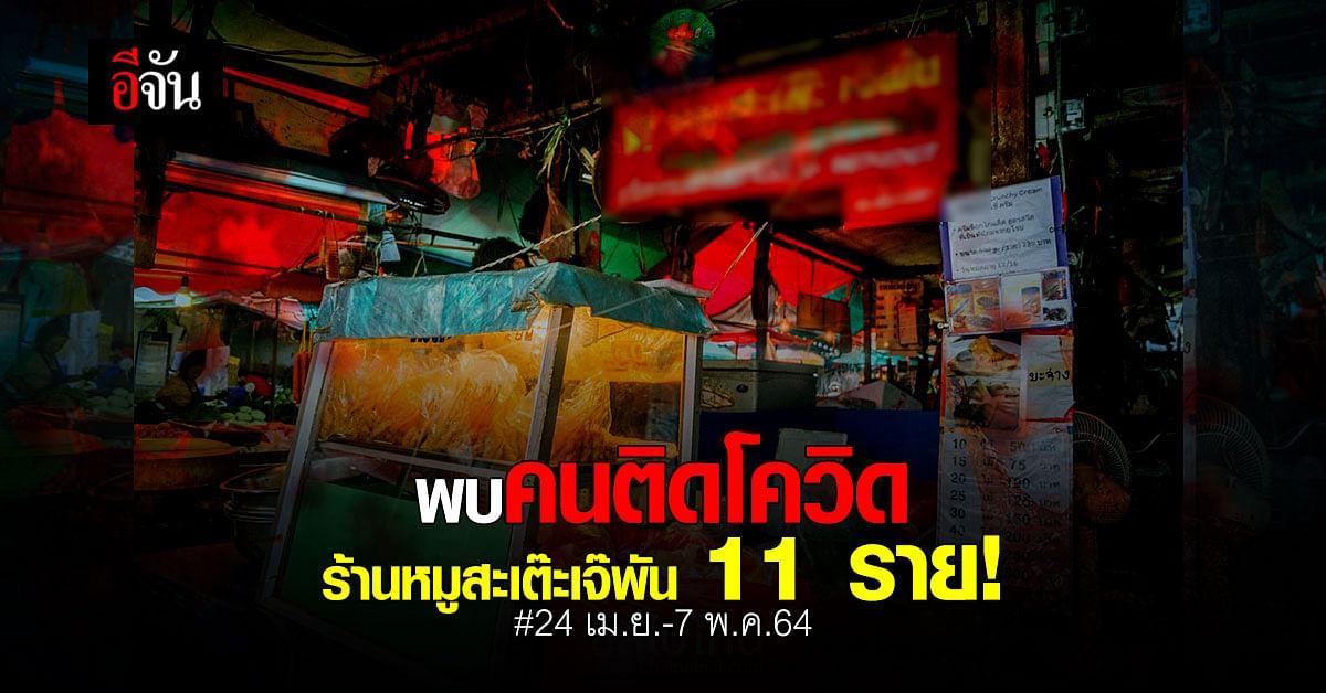 ด่วน นนทบุรี เผยพบคนติดเชื้อ จากร้านหมูสะเต๊ะเจ๊พัน 11 ราย ใครไปใช้บริการเช็กด่วน!