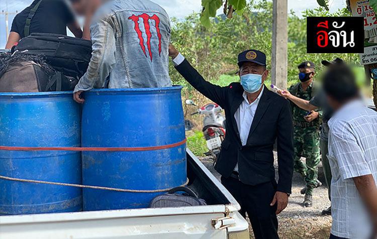 เจ้าหน้าที่เข้าจับกุม แรงงานต่างด้าวหลบหนีเข้าไทย