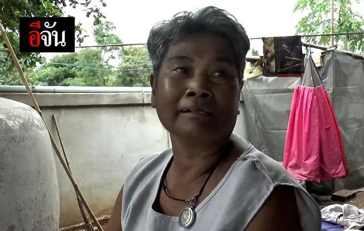 นางสุพิน ไพราม เพื่อนบ้านที่อยู่ติดกันกับบ้านน้องเก้า
