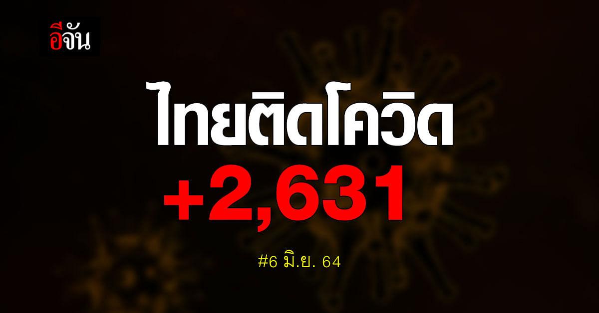 ยอดโควิดวันนี้ ไทยติดเชื้อเพิ่ม 2,631 ราย สะสมรวม 143,116 ราย