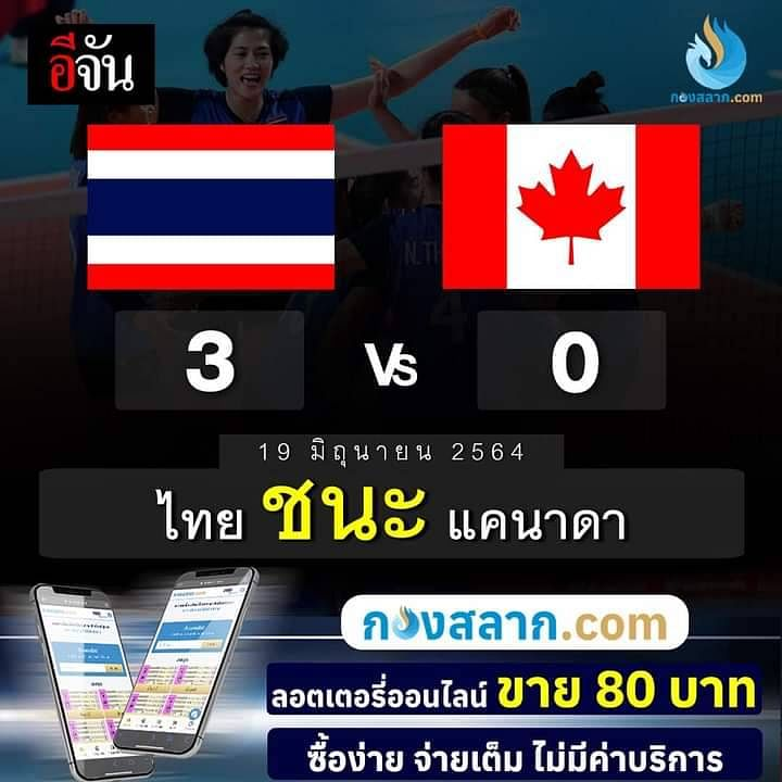 ไทยชนะ แคนาดา 3-0