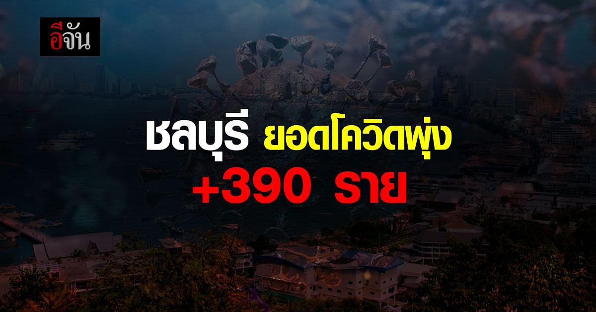 ชลบุรี วันนี้ ยอดติดโควิด เพิ่ม 390 ราย พบใน แคมป์ก่อสร้าง อื้อ