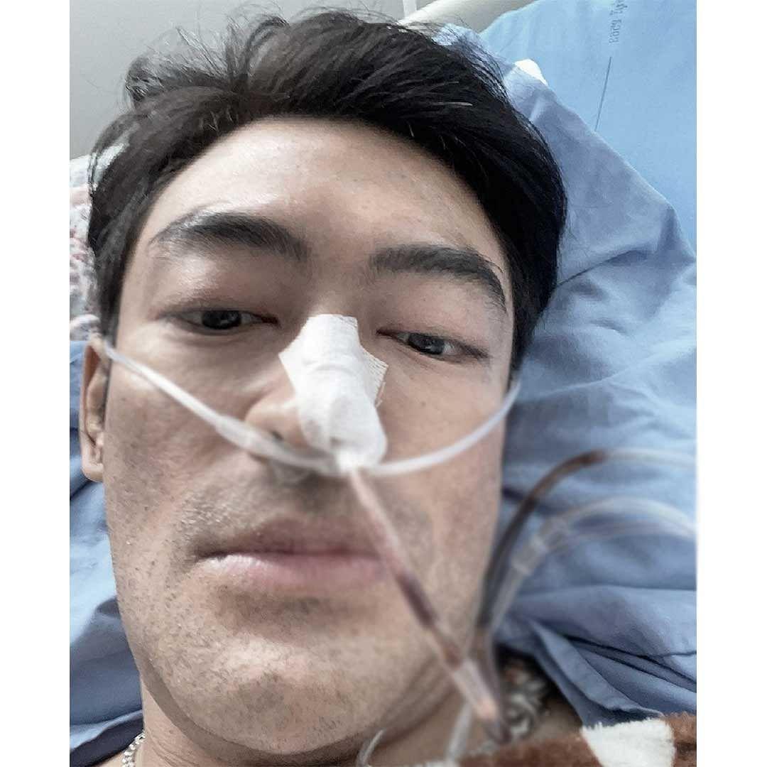 เติ้ล ธนพลโพสต์ภาพนอนป่วย ที่โรงพยาบาล