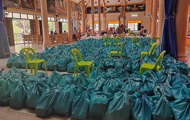 ดิว อริสรา มอบถุงยังชีพ 750 ครัวเรือน