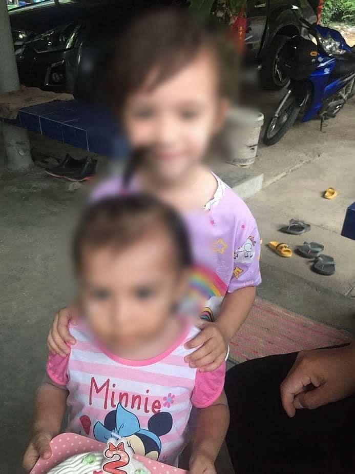 ด.ญ.ธาราลักษ์ (สงวนนามสกุล) อายุ 2 ปี และ ด.ญ.ชโรชา (สงวนนามสกุล) อายุ 4 ปี (ลูกครึ่งอังกฤษ) ที่หายตัวไป