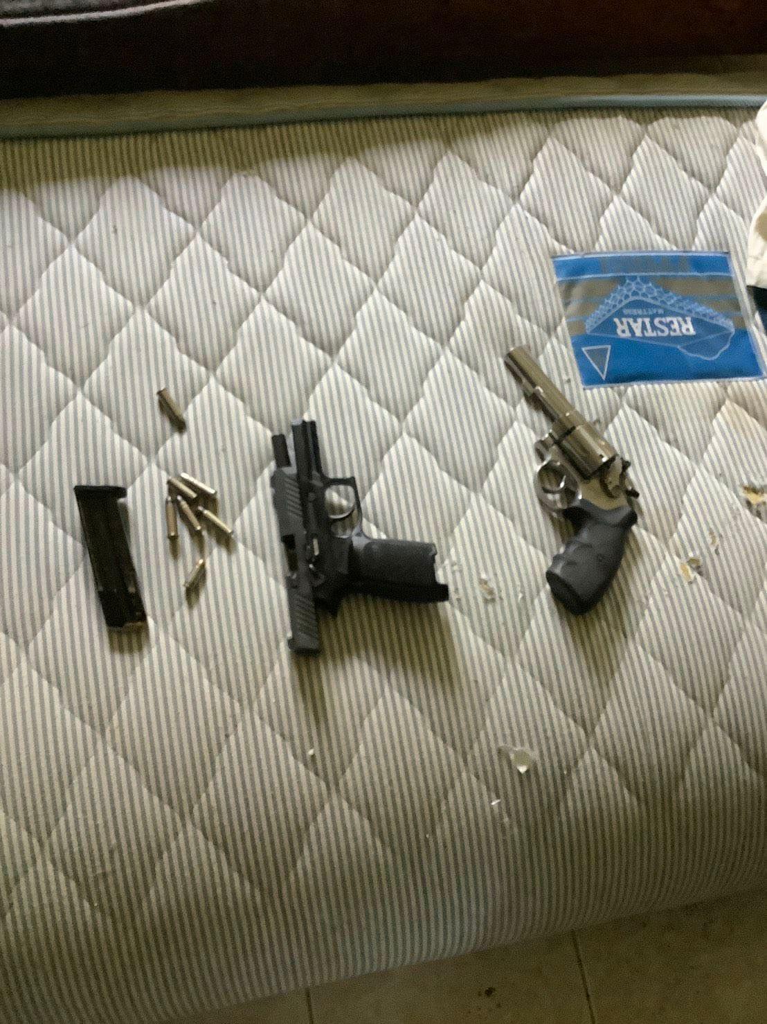 ปืนที่กวินใช้ก่อเหตุ กราดยิงโรงพยาบาลสนาม