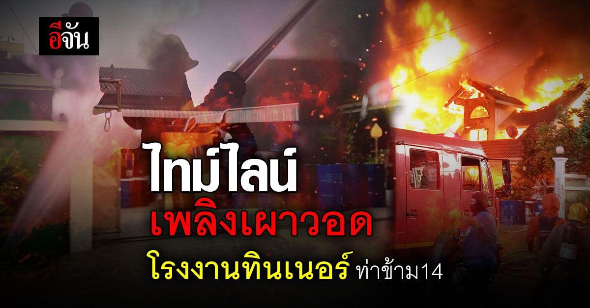 Live Blog : เหตุเพลิงไหม้โรงงาน ซอยท่าข้าม 14 เขตบางขุนเทียน
