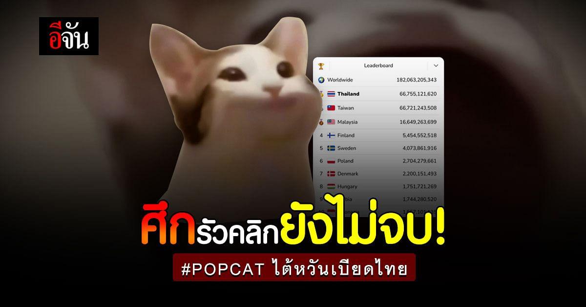 ศึกยังไม่จบ POPCAT ไต้หวันเบียดไทย ผลัดกันครองที่ 1