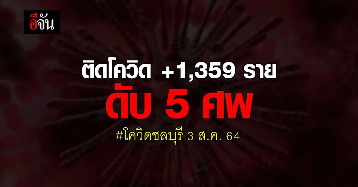โควิดชลบุรี พุ่งต่อเนื่อง! ติดโควิด +1,359 ราย ดับเพิ่ม 5 ศพ
