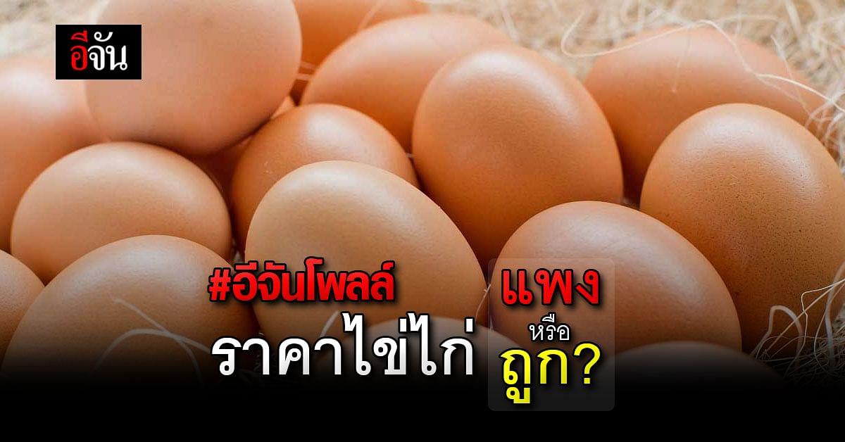 อีจันโพลล์ สำรวจความมั่นใจ ปริมาณ และ ราคาไข่ไก่ ?