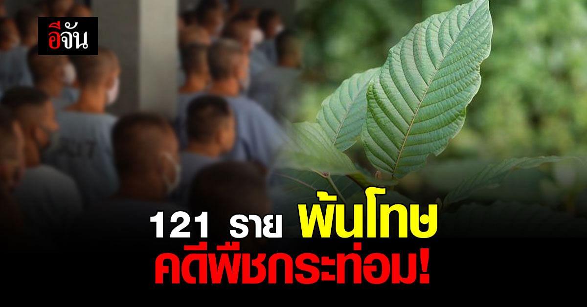 กรมราชทัณฑ์ พร้อมปล่อยนักโทษ คดีพืชกระท่อม 121 ราย