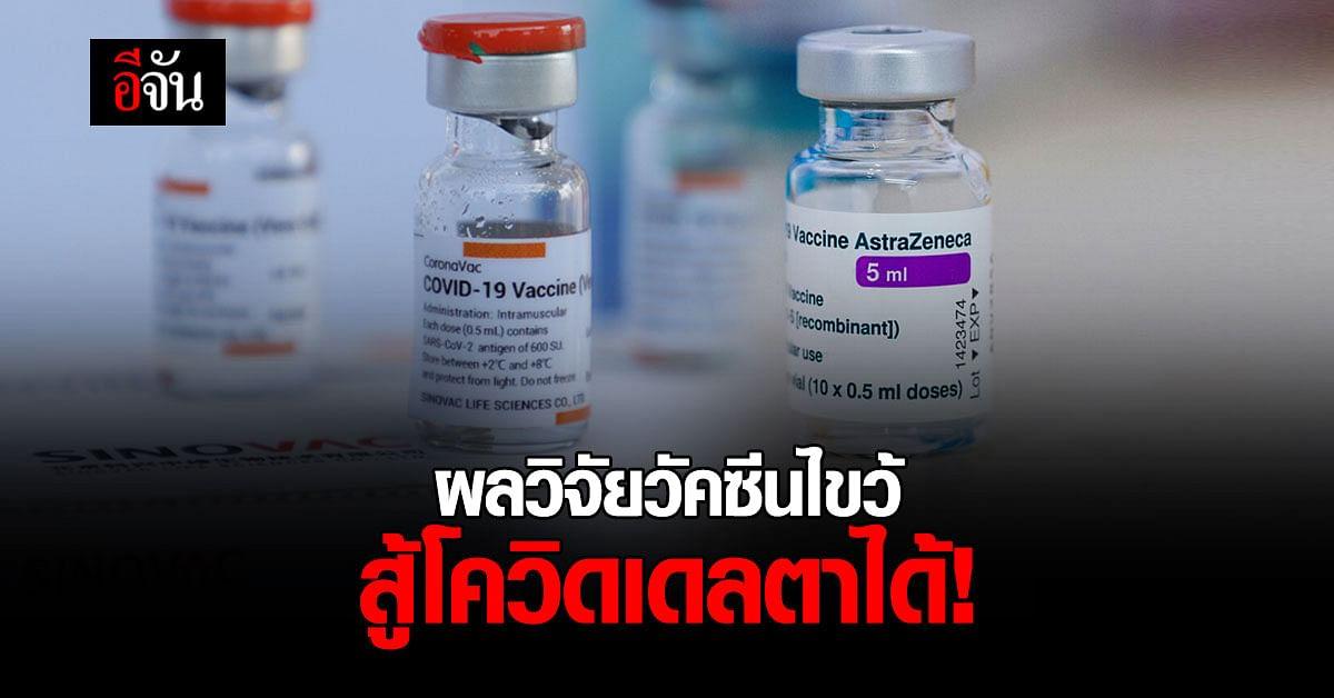 กรมวิทย์ฯ เผย สูตรฉีดวัคซีนไขว้ กระตุ้นภูมิสูงกว่าสูตรปกติ