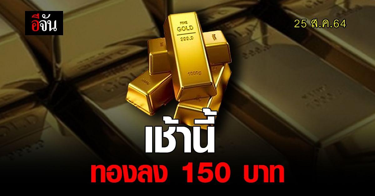 ราคาทองวันนี้ เปิดตลาดปรับลง 150 บาท ทองรูปพรรณ ขายออก 28,500 บาท