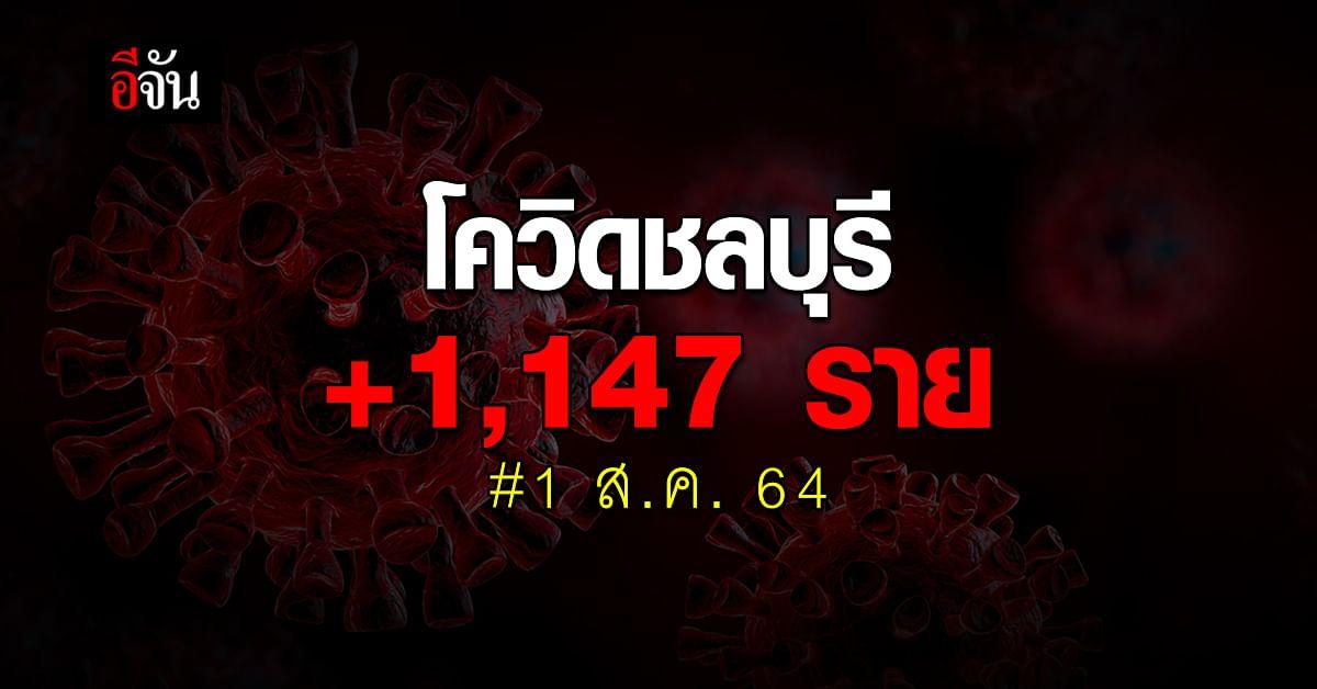 สสจ.ชลบุรี เผยยอดโควิด 1 ส.ค. 64 ติดเชื้อเพิ่ม 1,147 ราย
