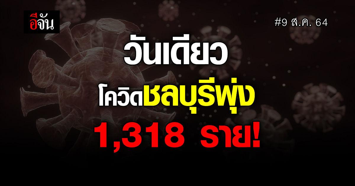 ชลบุรีวิกฤตหนักยอดผู้ติดโควิด-19 พุ่ง 1,318 ราย ตายอีก 6 ราย