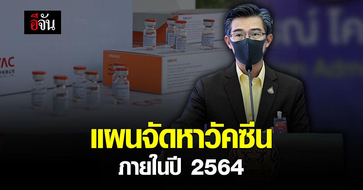 ศบค. เผยแผนจัดหาวัคซีน ภายในปี 2564