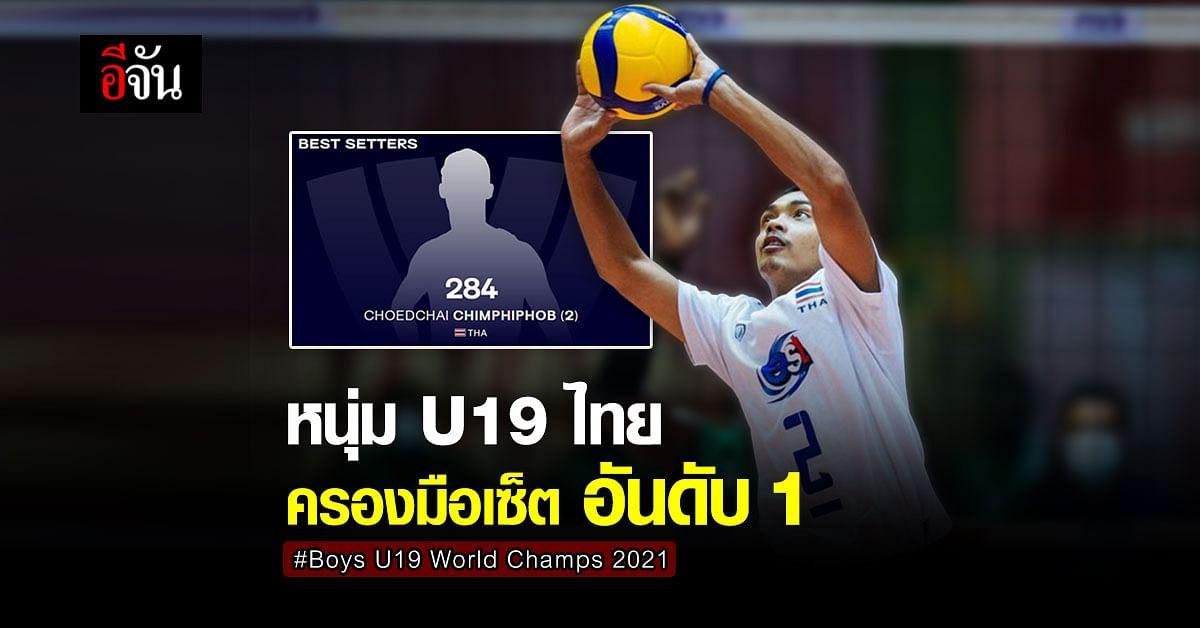 ลูกยางชาย U19 ไทย รั้งตำแหน่ง เซ็ตเตอร์ยอดเยี่ยม วอลเลย์บอลชิงแชมป์โลก