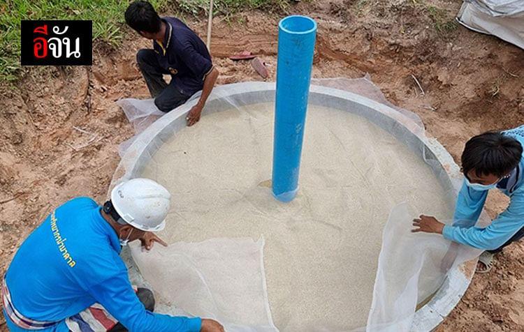 เจาะบ่อเติมน้ำใต้ดินระดับตื้น