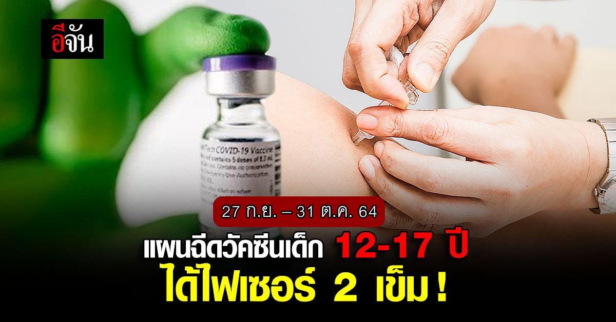 ศบค.เปิดแผนฉีดวัคซีน 24 ล้านโดส 27 ก.ย. – 31 ต.ค. 64