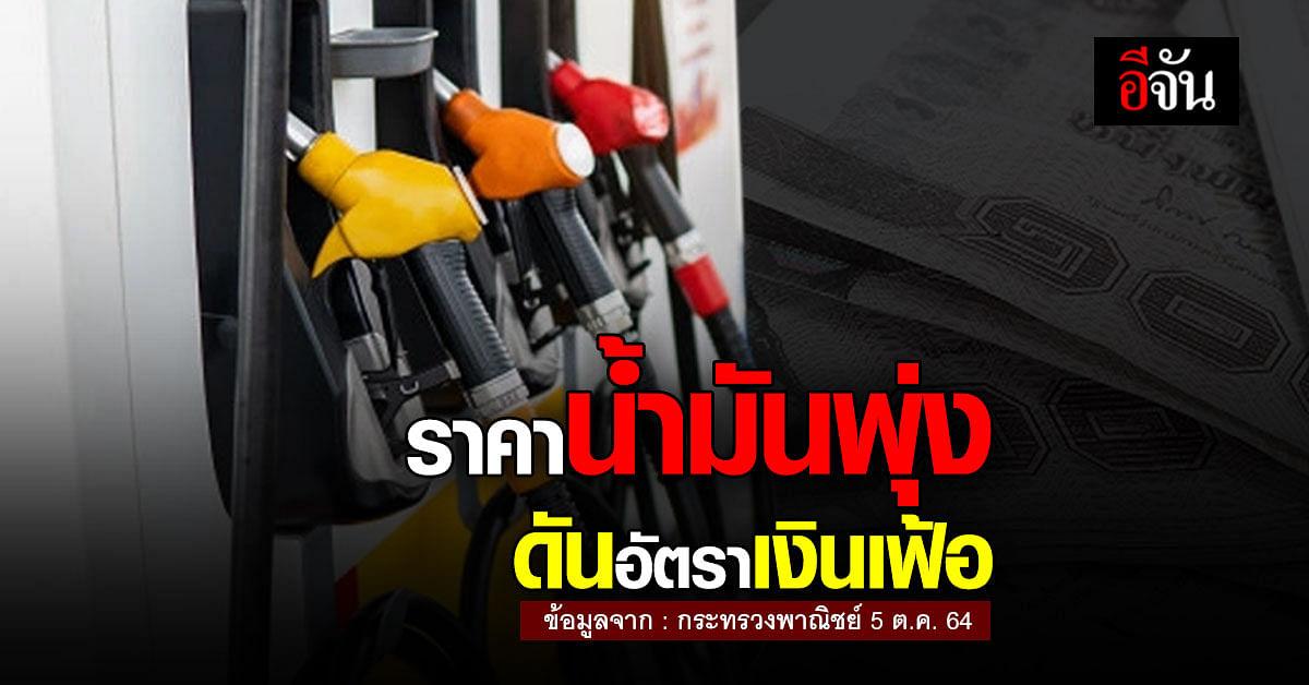 กระทรวงพาณิชย์ รายงาน อัตราเงินเฟ้อ กันยายน เพิ่ม 1.68% จาก ราคาน้ำมัน