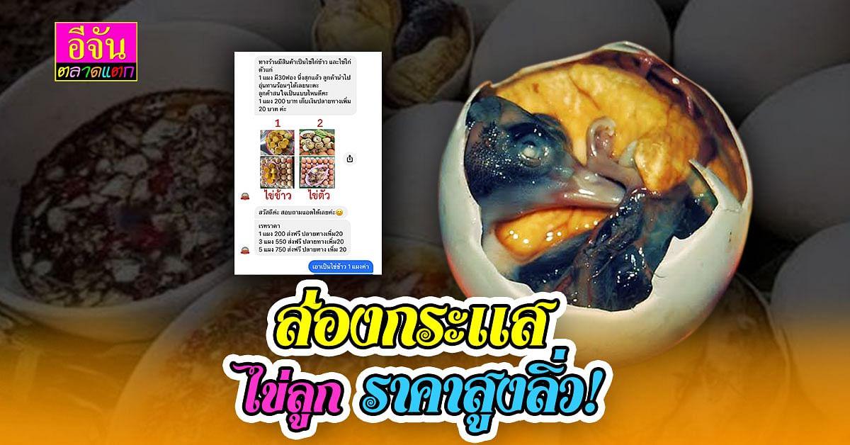 ไข่ลูก ไข่เวียดนาม คนกินให้พรึ้บ อัพราคาแพงกว่า ไข่ธรรมดา 3 เท่า