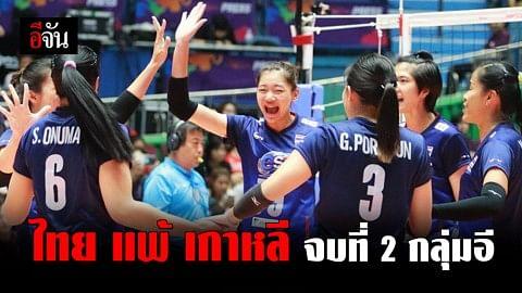 นักตบไทย สู้เกาหลีสุดมันส์ ก่อนพ่ายไป 3-1 เซต จบที่ 2 ของกลุ่มอี