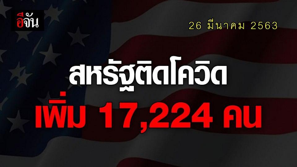 สหรัฐฯ ยอดติดเชื้อวันเดียวพุ่งอีก 17,224 คน เสียชีวิตอีก 268 ราย