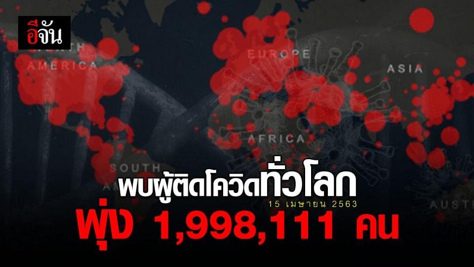รวมผู้ติดเชื้อโควิด-19 ทั่วโลก 1,998,111 คน