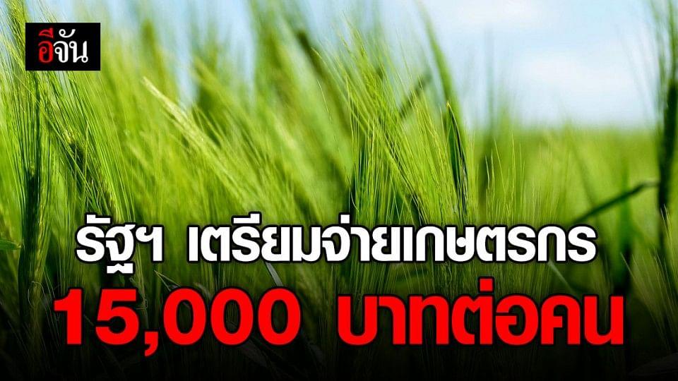 รัฐฯ จ่อ จ่ายเงินเยียวยาโควิด-19และภัยแล้ง ให้เกษตรกร 15,000 บาทต่อคน