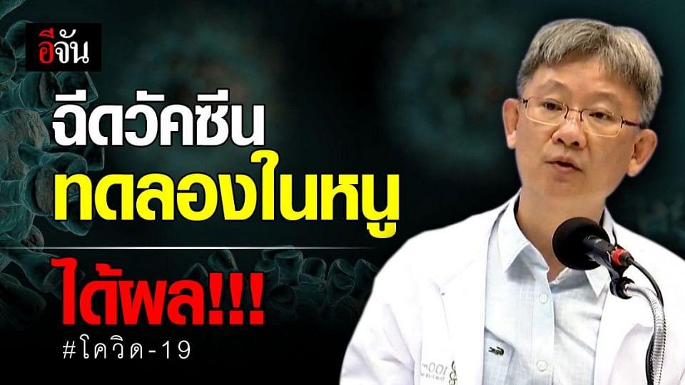 ข่าวดี! ผลทดลองวัคซีนโควิด-19 ของไทยในสัตว์ ได้ผลน่าพอใจ