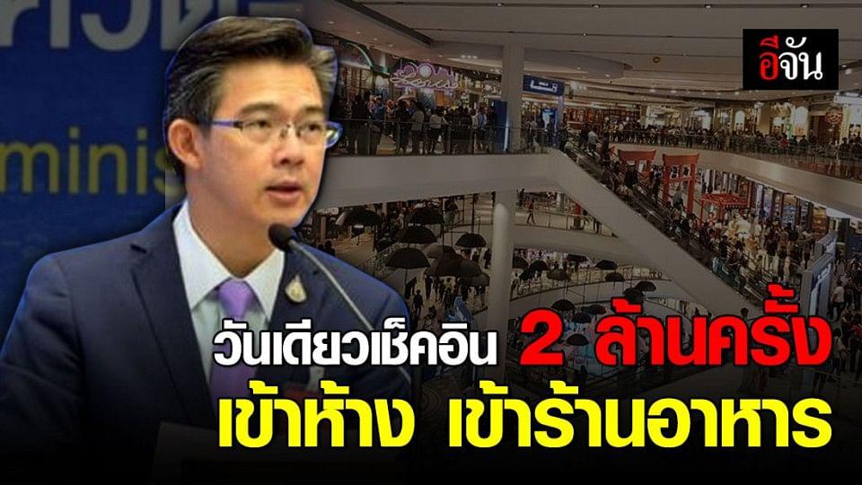 """ศบค.ขอบคุณคนไทย ให้ความร่วมมือ เช็คอิน """"ไทยชนะ"""" เข้าห้าง-ร้านอาหาร"""
