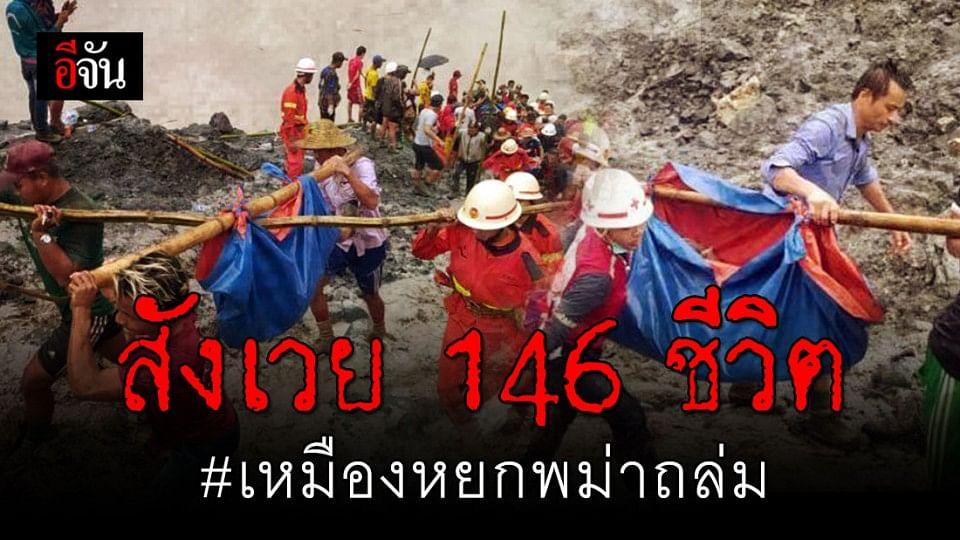 เหมืองหยกในพม่าถล่ม คนงานเสียชีวิตแล้ว 146 ราย