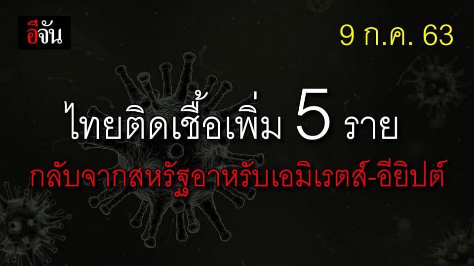 คนไทยกลับจาก ตปท. ติดเชื้อเพิ่ม 5 ราย