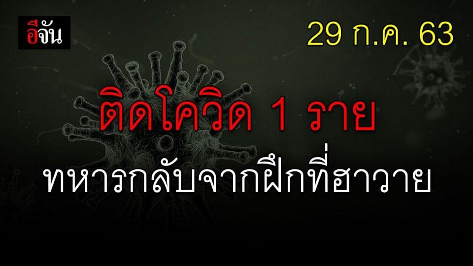 ทหารไทย กลับจากฝึกที่ฮาวาย ป่วยโควิดเพิ่มอีก 1 ราย