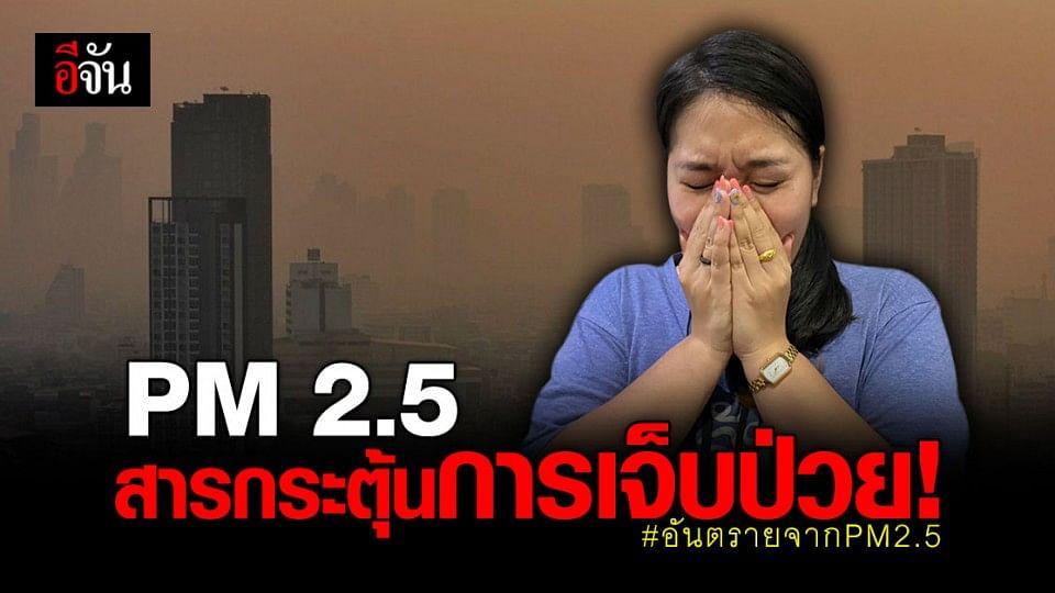 PM2.5 ฝุ่นจิ๋ว สารกระตุ้นการเจ็บป่วย จันพาส่องฝุ่นส่องโรค เลิกสูดฝุ่น เลี่ยงทรมานร่างกาย