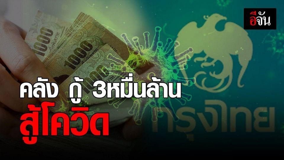 คลัง กู้เงิน ธนาคาร กรุงไทย กรุงเทพ 3หมื่นล้านบาท แก้วิฤต โควิด