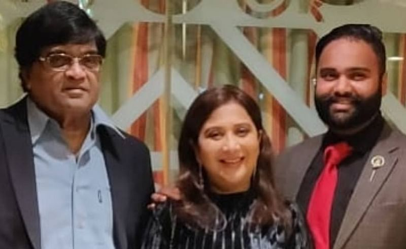 Nivedita Saraf with family